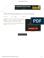 Android Expandable List View Tutorial