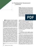 1987. Fess E. a Method for Checking Jamar Dynamometer Calibration