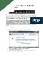 Tornando o Modo Privado Do Firefox Como Padrão