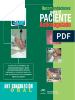 Anticoagulacion. Diptico Del Paciente