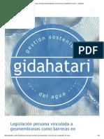 Legislación Peruana Vinculada a Geomembranas Como Barreras en Depósitos de Relave — Gidahatari