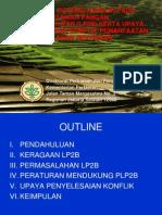 Pemetaan Potensi Konflik pada Lahan Pertanian Pangan Berkelanjutan (LP2B) serta Upaya Penyelesaian Konflik Pemanfaatan Ruang di Lahan Pertanian