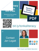 Tonka Literacy and iPads