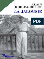 Extrait de la Jalousie d'Alain Robbe-Grillet