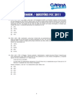 Questoes Porcentagem FCC 2011