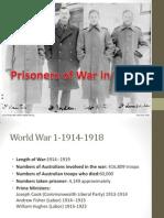 prisoners of war in ww1