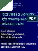 Braulio-Política Nacional de Biodiversidade - V SINRAD