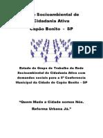 Demandas Sociais Para a 5ª Conferencia Municipal Da Cidade de Capão Bonito