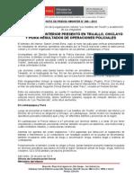 MINISTRO DEL INTERIOR PRESENTÓ EN TRUJILLO, CHICLAYO Y PIURA RESULTADOS DE OPERACIONES POLICIALES