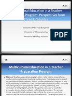 Multicultural Education in a Teacher Preparation Program