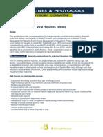 Viral Hepatitis Testing