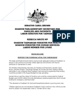 Support for Foodbank Vital for Tasmanians
