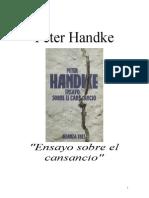 Handke, Peter - Ensayo sobre el cansancio.doc