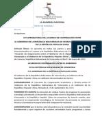 Ley Aprobatoria Del Acuerdo de Cooperación China-Venezuela