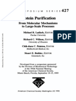 Protein Purification- From Molecular Mechanisms to Large-Scale Processes (Acs Symposium Series) 1990