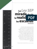 Ley SEP Mirada Desde La Realidad de Las Escuelas