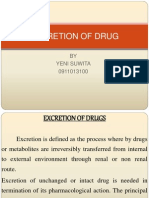 Excretion of Drug