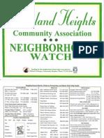 Roseland Heights Neighborhood Watch 2