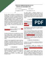 Estudio de Sobretensiones en Un Sistema de Distribución
