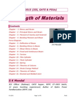 Strength of Materials 2015 by S K Mondal