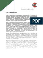 Carta a Los Mendocinos UCR
