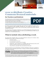 How to Attribute CC Materials Edu