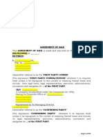 Real Estate Sale Agreement (Confirming Party) - Draft