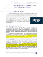 Redes Inalambricas de Area Personal (WPAN)