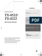 ONKYO TX 8522 Owner Manual