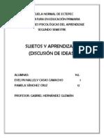 Sujetos y Aprendizajes (Discusión de Ideas)