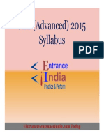 JEE Advanced Syllabus by Entranceindia