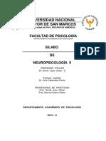 Silabo Neuropsicología II UNMSM