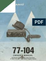 Midland 77-104  - instructions circuit & PCB layout (LC7136 version). UK CB radio