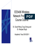 EE5406 Wireless Network Protocols Course Outline