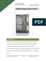 Datasheet - M542H Stepper Motor Driver