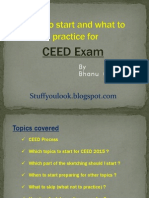 How to Start and What to Practice for CEED exam