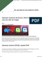 Generar Archivos de Excel y Word Desde PHP Casi Por Arte de Magia