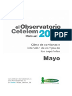 Cetelem Observatorio Mensual. Mayo 2014