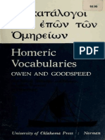 Owen and Goodspeed - Homeric Vocabularies