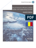 Romania Country Profile on Resource Efficiency Policies