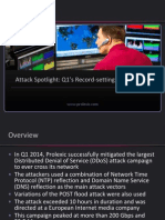 DDoS Attack Spotlight Record-setting DDoS Attack Prolexic Podcast