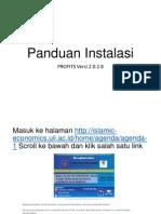 Panduan Instalasi PROFITS Versi 2.0.2.8