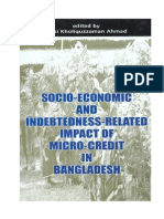 Socio-Economic and Indebtedness Related Impact of Micro-Credit In Bangladesh -  Qazi Kholiquzzaman Ahmed (Editor)