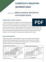 Cambio Climático y Registro Sedimentario