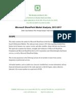 Microsoft SharePoint Market Analysis 2013 2017 Executive Summary