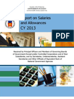 2013 Report on Salaries and Allowances