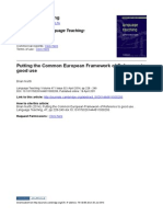 Putting the Common European Framework of Reference to Good Use