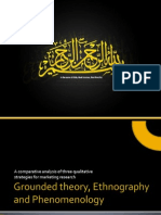 Grounded Theory, Ethnography and Phenomenology