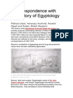 A correspondence with the history of Egyptology