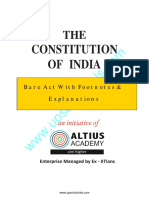 Constitution of India - Bare Act With Explanations